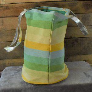 Striped Beach Tote Bag